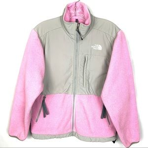 The North Face Denali Pink Gray Fleece Jacket